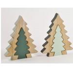Natale albero legno verde