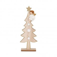Natale albero legno angelo
