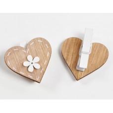 Mollettina legno cuore