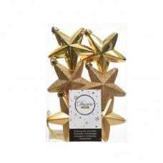 Palline Natale stelle albero oro