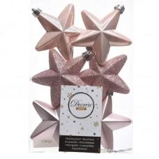 Palline Natale stelle albero rosa