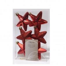 Palline Natale stelle albero rosso