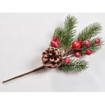 Natale ramo bacche pigne