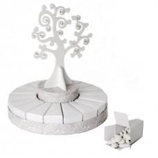 Bomboniera torta matrimonio albero vita 18 fette
